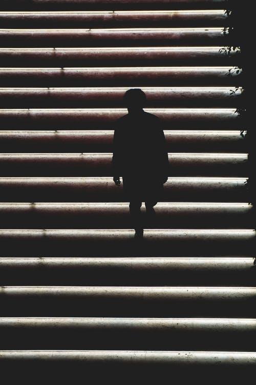 schody člověk